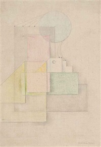 construction drawing; and houses into construction (2 works) by sven berlin