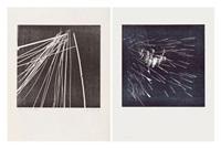 ensemble de deux oeuvres: h 1973-17 (set of 2) by hans hartung