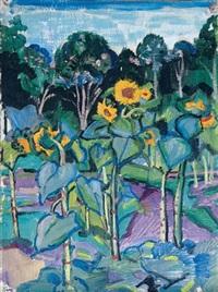 sunflowers by serguei ivanovitch lobanoff