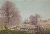 a view from the artist's garden by george houston