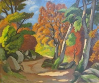sun and shade on a track by louis charlot