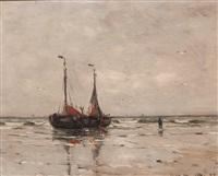 anchored bomschuiten at dawn by gerhard arij ludwig morgenstjerne munthe