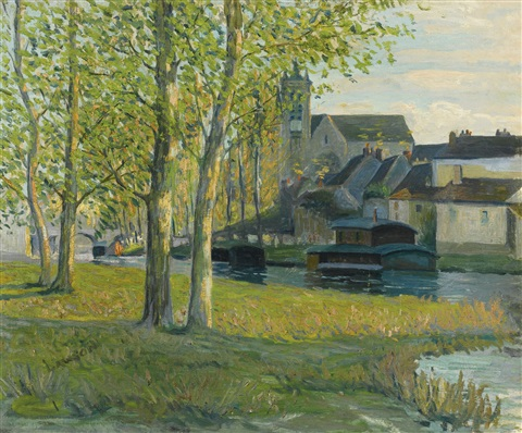 church at moret sur loing by ernest lawson