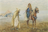 an arab encampment by albert rosati