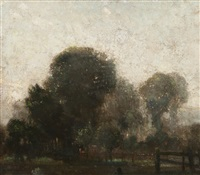 3:30 a.m. in august - dawn in christchurch park, ipswich by leonard russel squirrell
