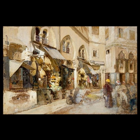 street scene in algiers by louis comfort tiffany