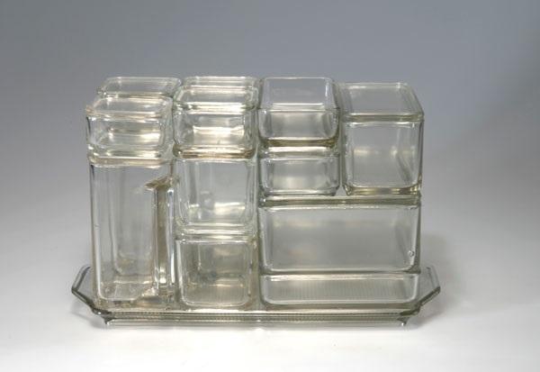 wilhelm wagenfeld kubus geschirr 1938 42 x 18 6 cm 16 5 x 7 3 in. Black Bedroom Furniture Sets. Home Design Ideas