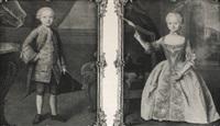 portrait of a boy & portrait of a girl by guillaume jean joseph de spinny