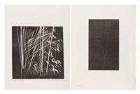ensemble de deux oeuvres: h1973-17 (set of 2) by hans hartung