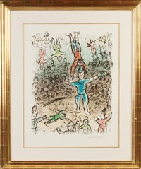 the acrobat by marc chagall