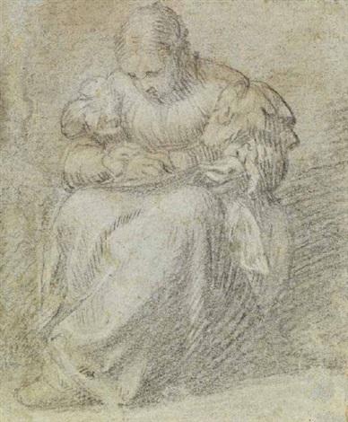 donna che cuce by romanino girolamo romani