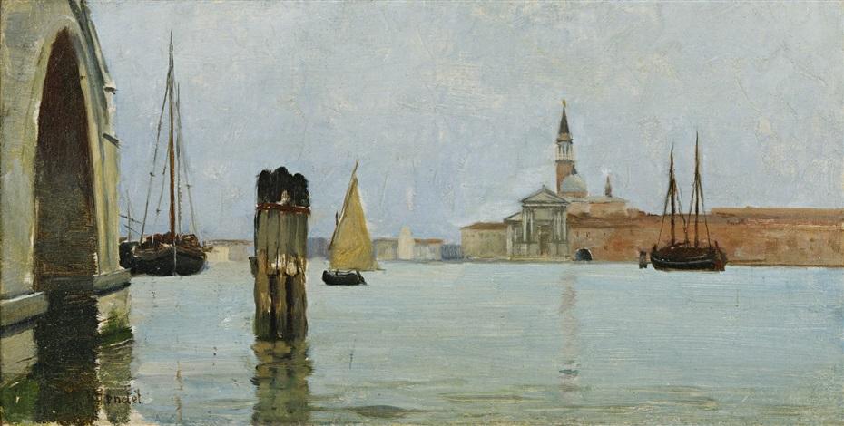 san giorgio maggiore and the campanile seen across the venetian lagoon by theodore wendel