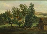 geanimeerd heuvellandschap by théodore fourmois