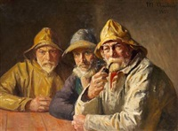 fiskere i brøndums bod by michael peter ancher