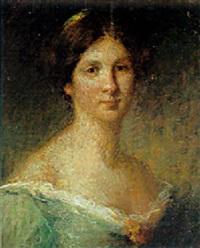 portrait de femme en vert by ernest joseph laurent