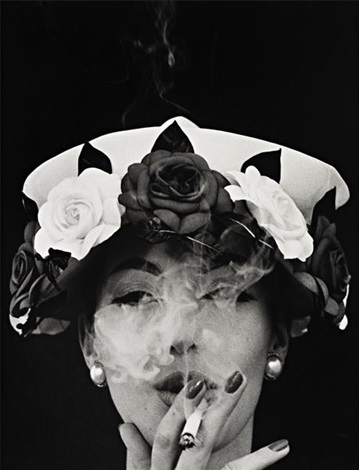 hat and 5 roses, paris (vogue) by william klein
