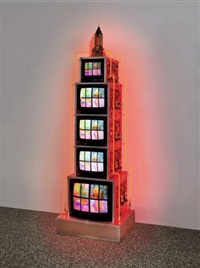 empire state building by nam june paik
