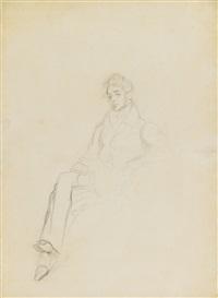 etude pour le portrait du comte demidoff (study) by eugène delacroix