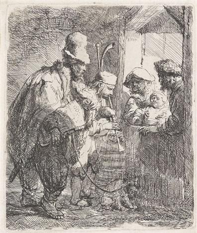 die wandernden musikanten by rembrandt van rijn