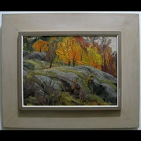 fall trees and rocks by henry john simpkins