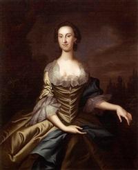 portrait of charles carroll of duddington (+ portrait of mary carroll; pair) by john wollaston