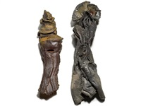 untitled (doll); untitled (doll) (2 works) by peter voulkos
