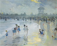 late afternoon at brighton beach by martha walter