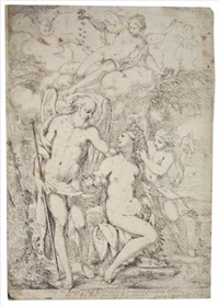 saturn, venus, cupid and psyche by giuseppe diamantini