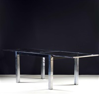 extending dining table by la metal arredo