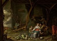 familia en interior by david ryckaert iii