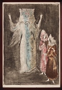 leye returns transformed into the dybbuk, de la serie the dybbuk by leonora carrington
