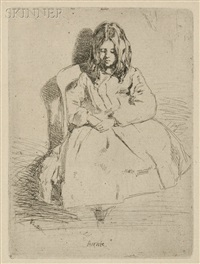 annie seated, second state of two by james abbott mcneill whistler