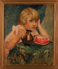 dziewczynka z filiżanką by anna brzozowska–maslankiewicz