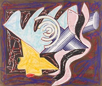 a hungry cat ate up the goat, plate 2 (from illustrations after el lissitzky's had gadya) by frank stella