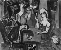 cafe scene by louis harris