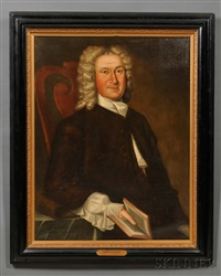 portrait of thomas child (16-- 1751) by john greenwood