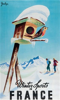 winter sports in france by jean leger
