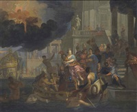 the abduction of helen by gerard hoet the elder