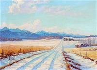 rural road in the foothills by mario moczorodynski