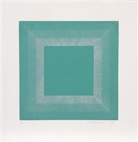 winter suite (green with silver) by richard anuszkiewicz