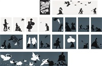 the emancipation approximation portfolio (set of 26) by kara walker