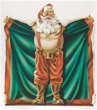 santa claus holding cape open by paul allen