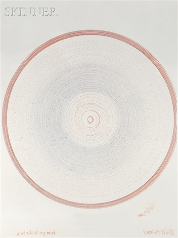 windmills of my mind (from in a spin/the action of the world on things ii) by damien hirst