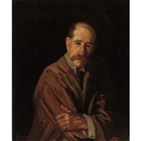 portrait of a man by george benjamin luks