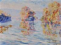les iles sur la seine en automne by georgette agutte