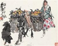 黄 胄(1925-1997) 丰收图 by huang zhou