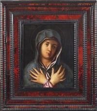 mater dolorosa by titian (tiziano vecelli)
