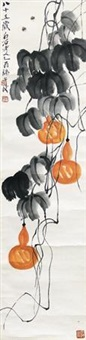 葫芦蜜蜂 by qi baishi