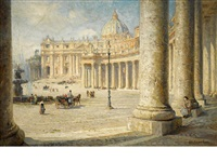 view of st. peter's, rome by colin campbell cooper
