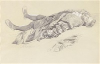 a sketch of a dead man by albert edelfelt